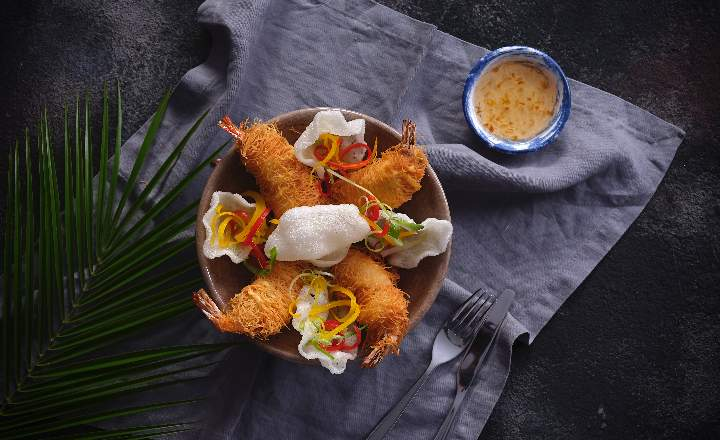 Crispy Shrimp with Kadayif