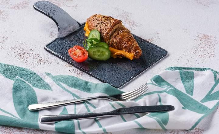 Cheddar Cheese Grain Croissant