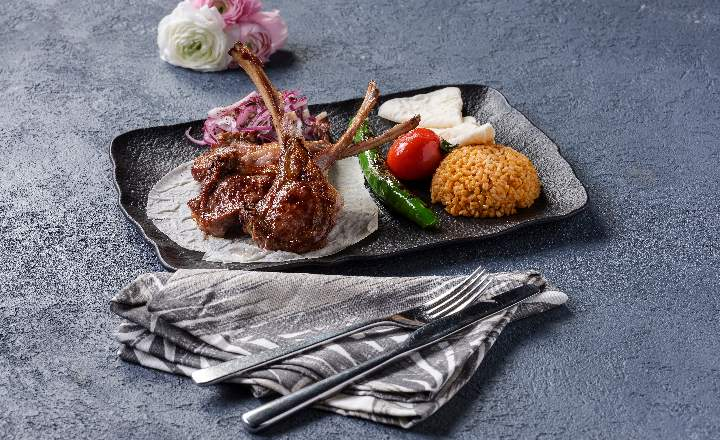 Azerbaijani Local Lamb Steak Kebab