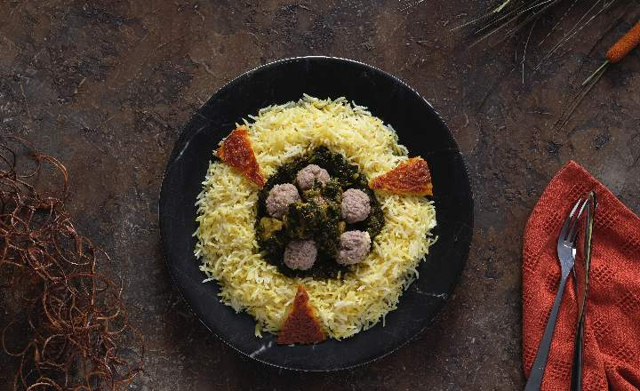 Pilaf with Pickled Kebab