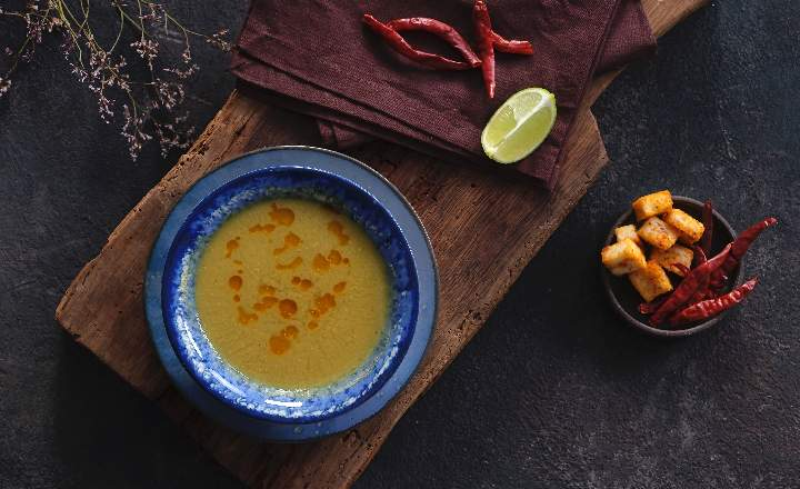Strained Lentil Soup