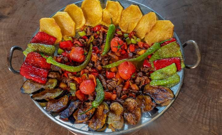 Diced Lamb Fried on Iron Plate  (Lamb or Beef) (Shared)