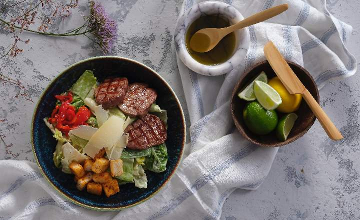 Caesar Beef Salad