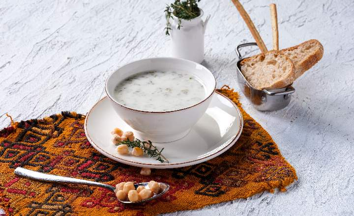 Traditional Azerbaijani Dovga Soup