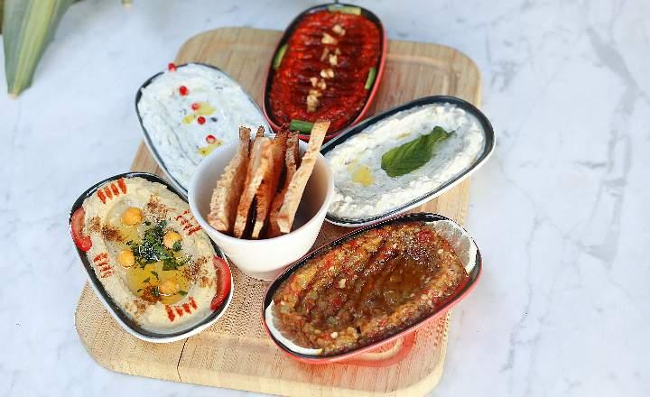 5 appetizer plates