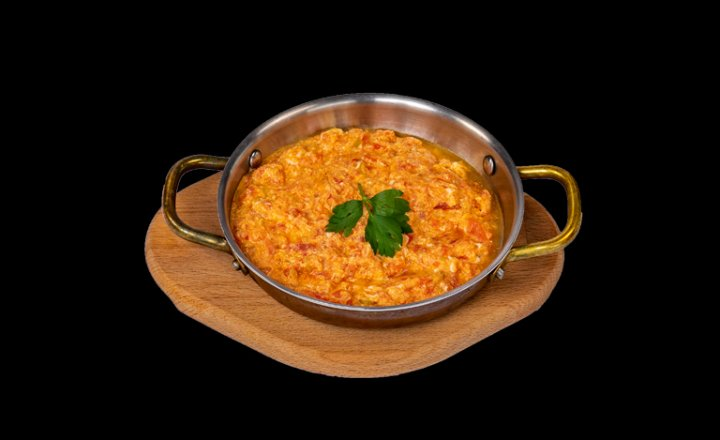 Scrambled Eggs with Tomatoes and  Green Pepper (Menemen)