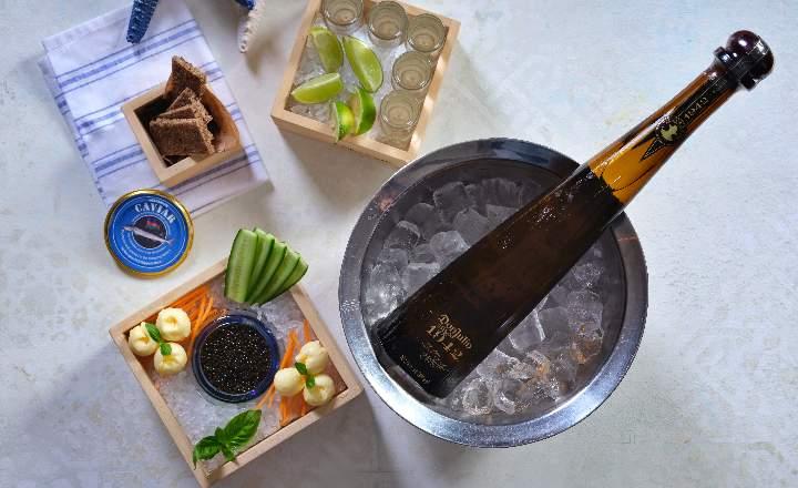Bottle of Beluga Black Caviar & Don Julio 1942